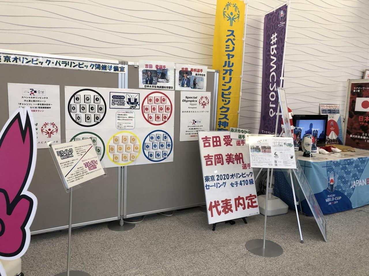 藤沢市役所内のオリンピック応援パネル2