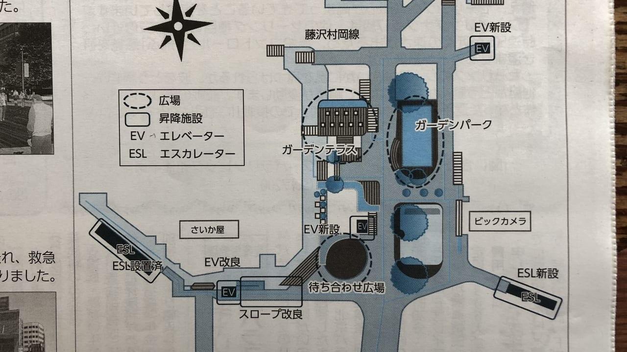 藤沢駅北口 ペデストリアンデッキ図